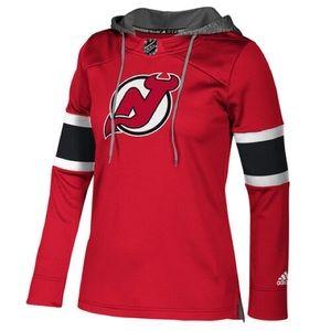 NJ Devils Womens Authentic Jersey Crew Hoodie